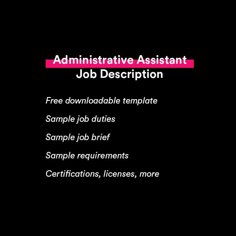 free administrative assistant job description sample and template