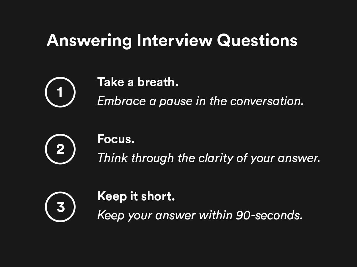 answering interview questions effectively