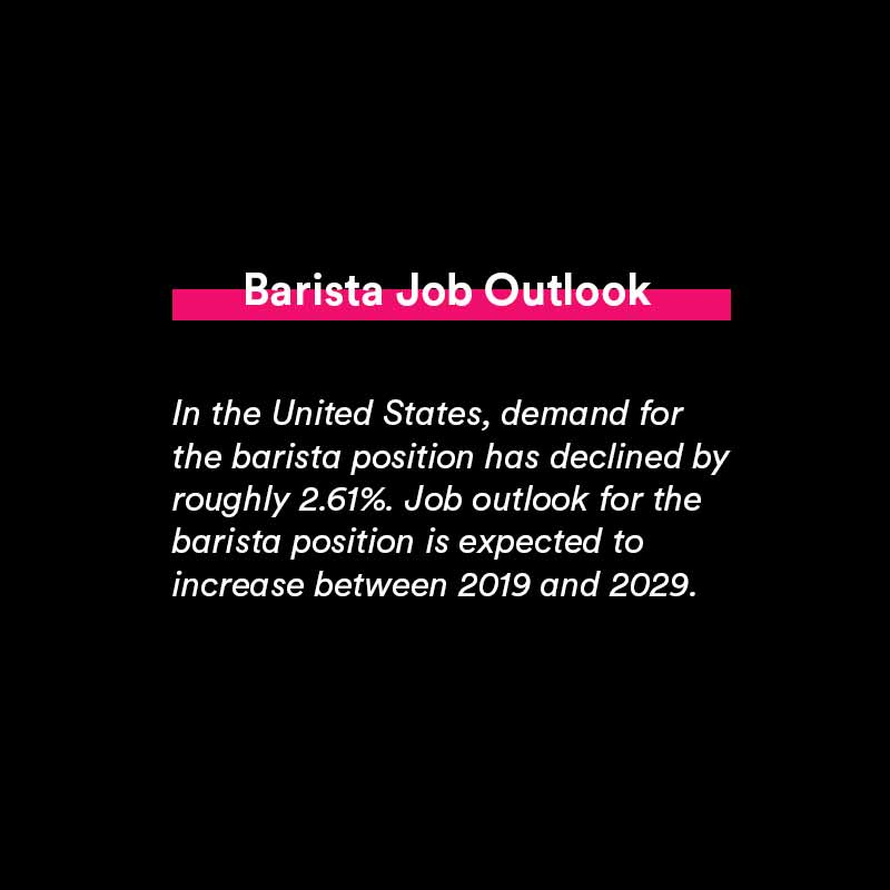 barista position insights, job outlook