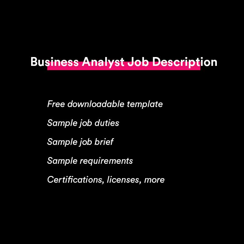 business analyst job description template and sample
