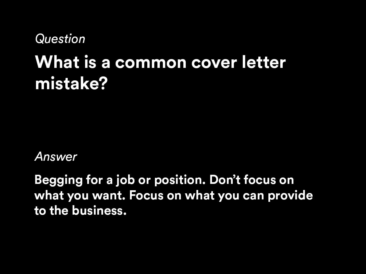 common cover letter questions by job seekers
