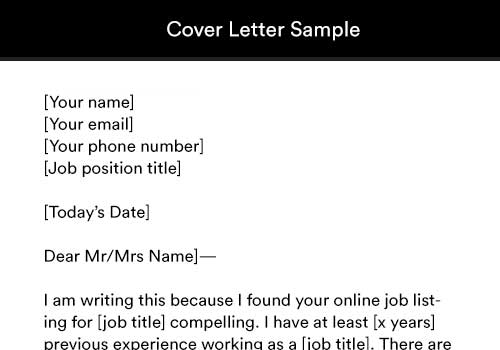 Bar Back Cover Letter