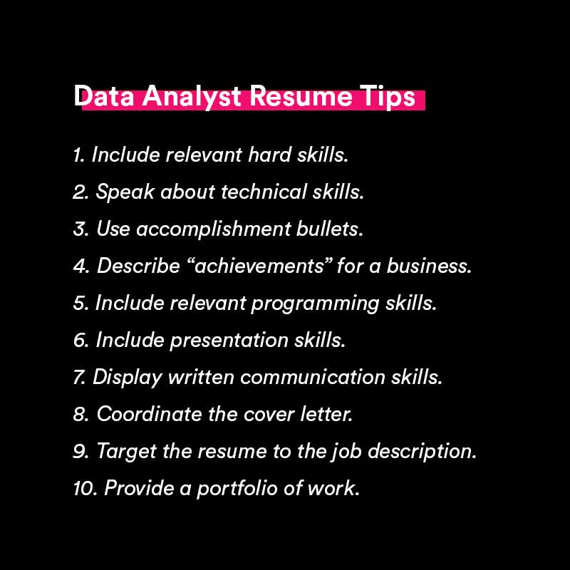 data analyst resume tips