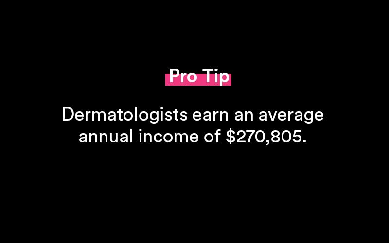 how much do dermatologists make