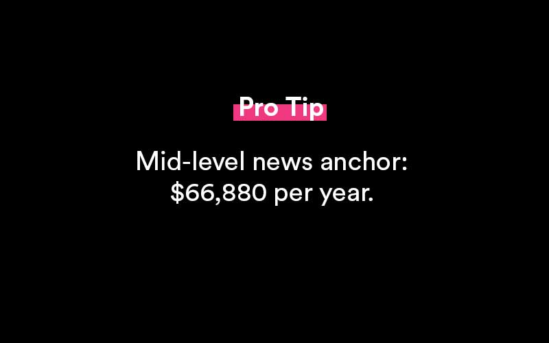 how much do news anchors make