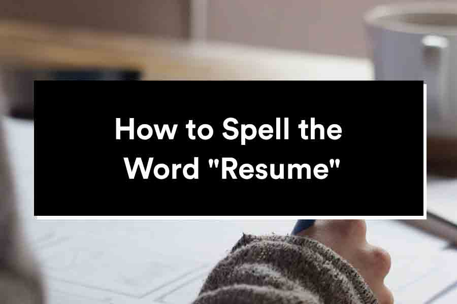 how to spell resume