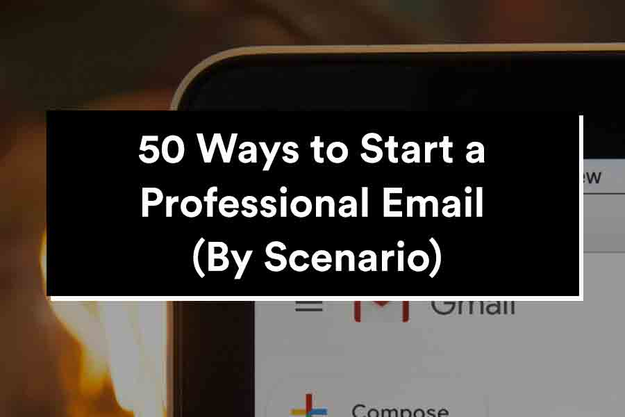 how to start a professional email