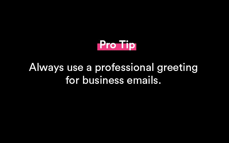 how to start an email