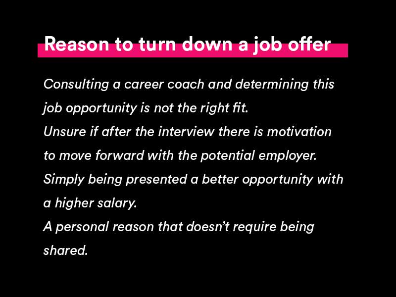 how to turn down a job offer