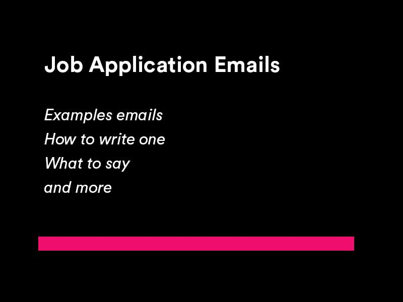 job application email