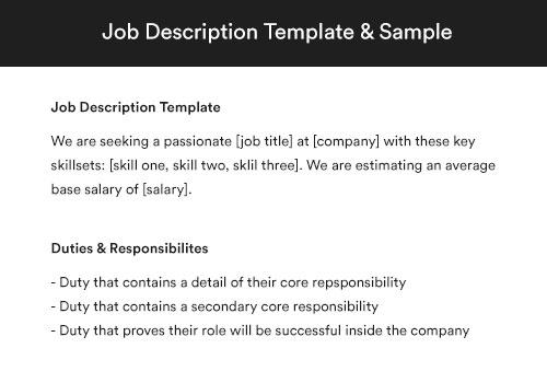 Estimator Job Description