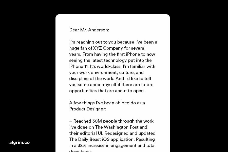 letter of interest example for a job