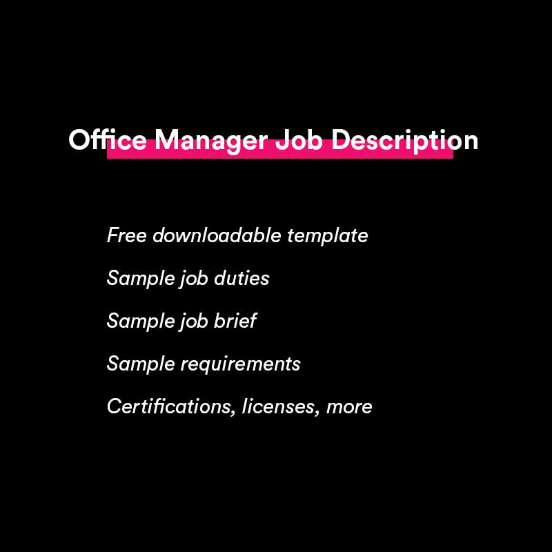 office manager job description sample and template