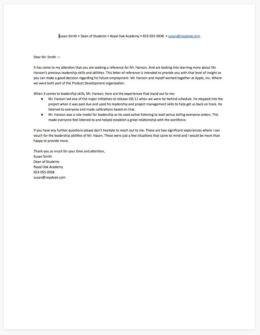 Sample Of Personal Reference Letter from www.algrim.co