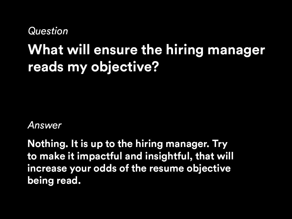 common questions from job seekers writing a resume objective