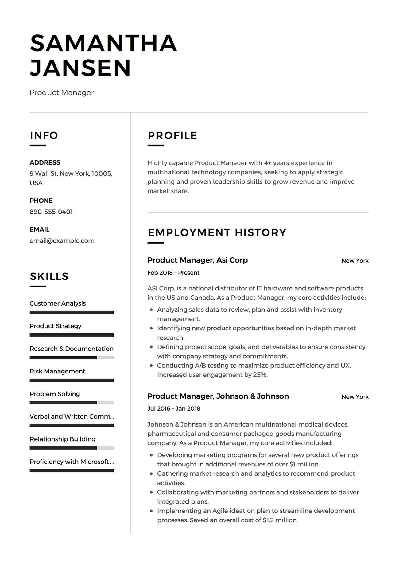 Reverse Chronological Order On A Resume 2020 Algrim Co