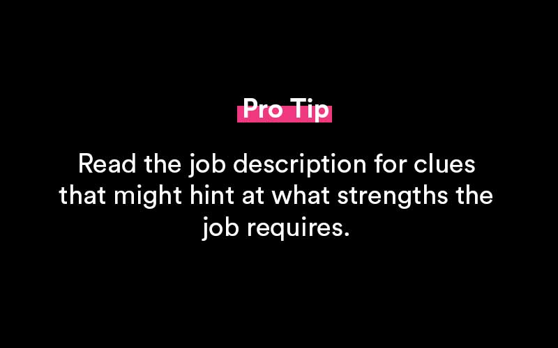 strengths and weaknesses pro tips