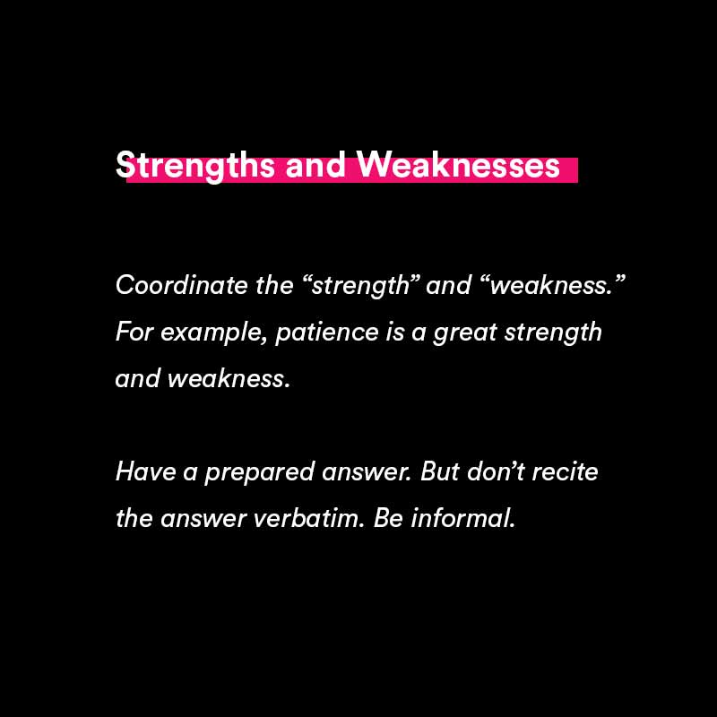 strengths and weaknesses tips