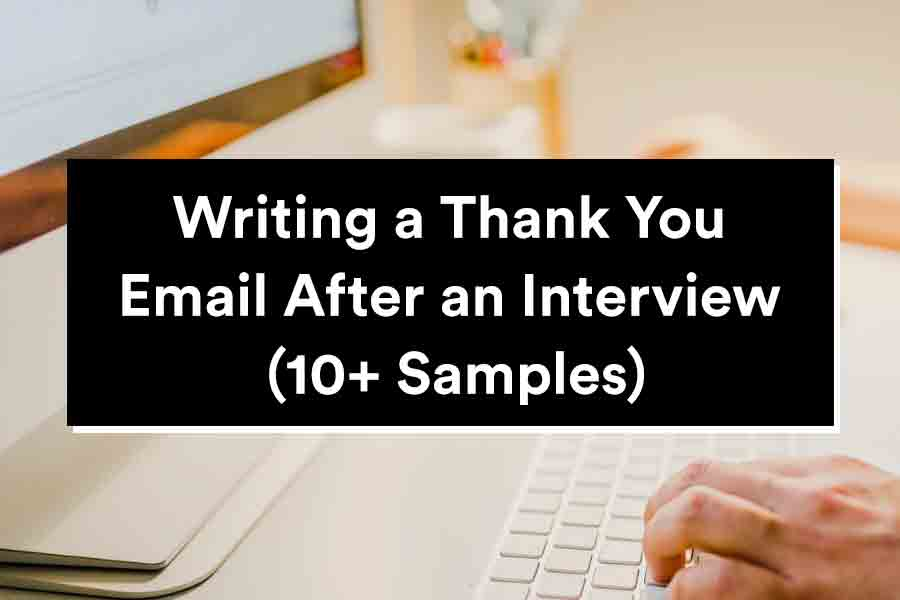 thank you email after an interview