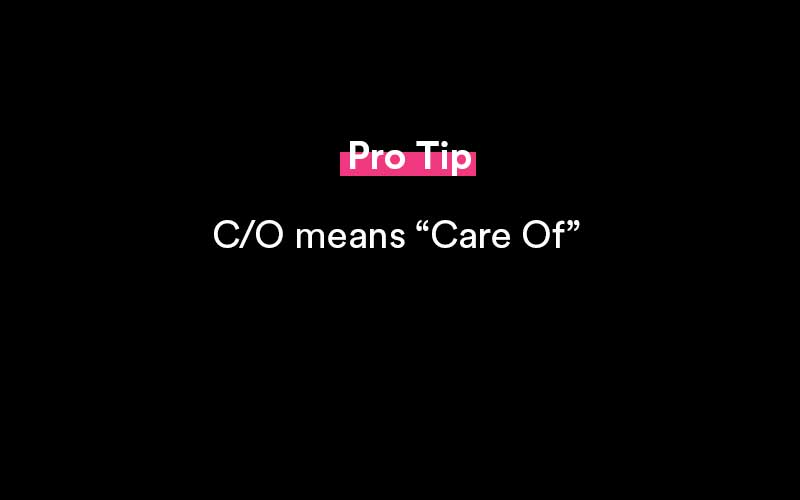 what does care of mean